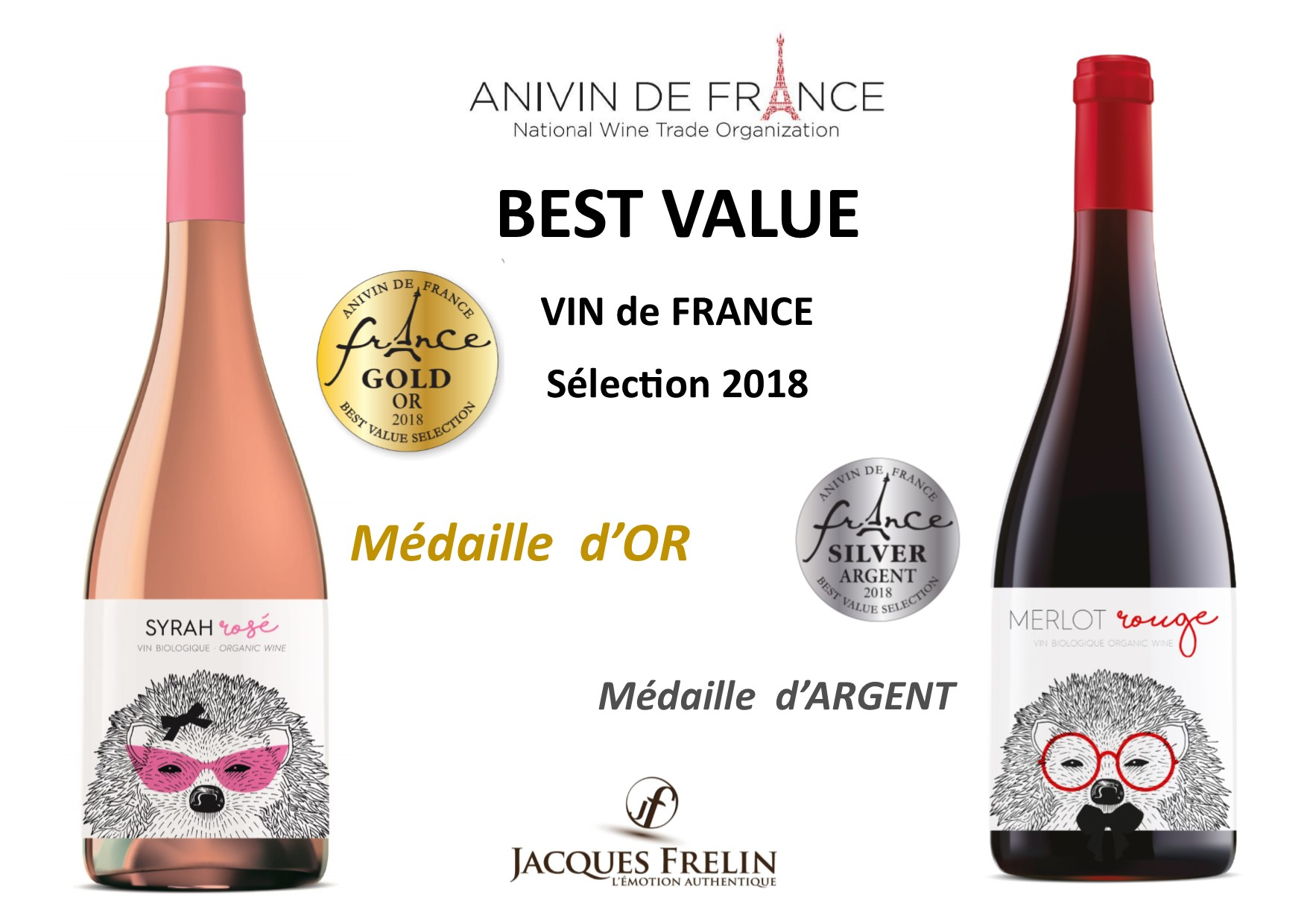 Best Value 2018 -Hérisson- médaille d'OR